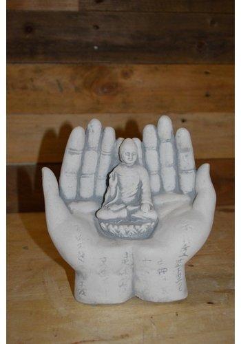 Shiva god gedragen op handen
