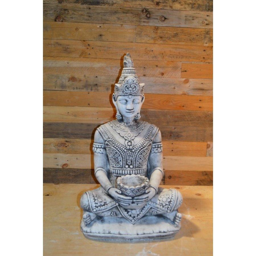 Shiva god met een lotus schaaltje voor waxinelichtje-1