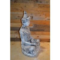 thumb-Shiva god met een lotus schaaltje voor waxinelichtje-2