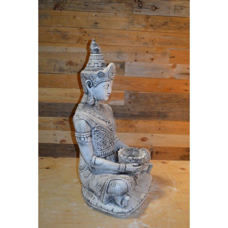 Shiva god met een lotus schaaltje voor waxinelichtje-2