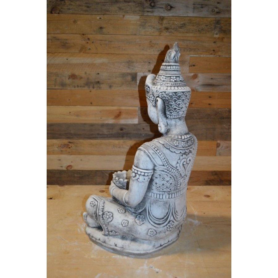 Shiva god met een lotus schaaltje voor waxinelichtje-4
