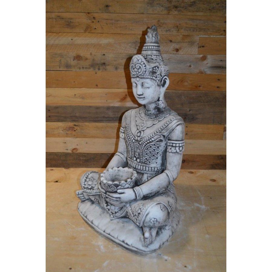 Shiva god met een lotus schaaltje voor waxinelichtje-5