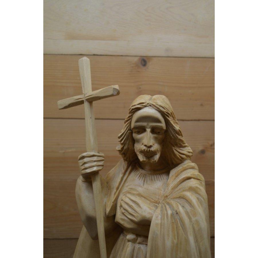 Uniek Jezus beeld gesneden uit hout-3