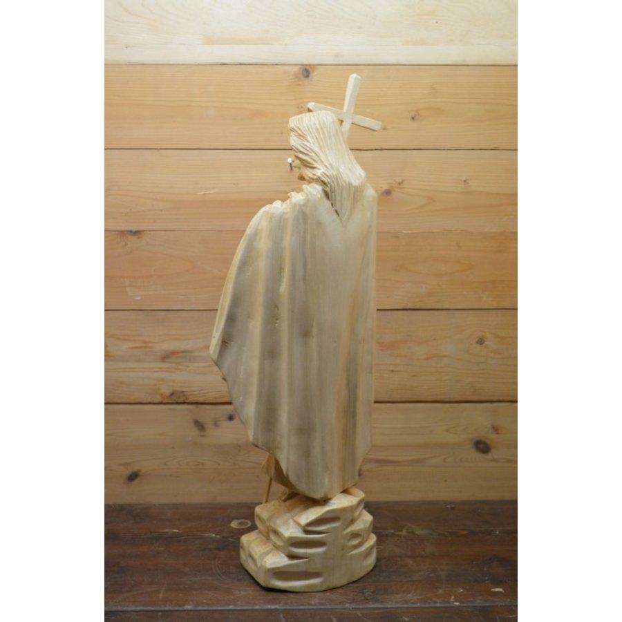 Uniek Jezus beeld gesneden uit hout-4