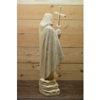 thumb-Uniek Jezus beeld gesneden uit hout-5
