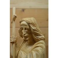 thumb-Uniek Jezus beeld gesneden uit hout-6
