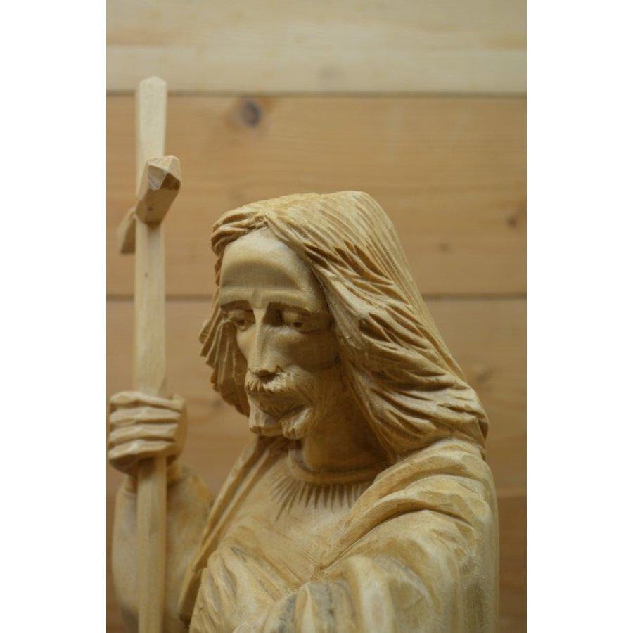 Uniek Jezus beeld gesneden uit hout-6