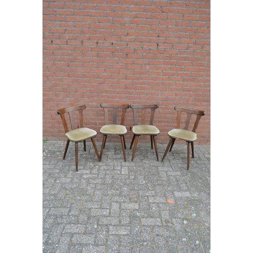 Houten caféstoelen vintage