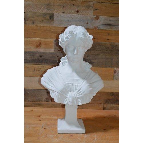 Buste borstbeeld van een jonge vrouw