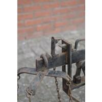 thumb-Antieke Bascule landelijke weegschaal van eikenhout-4