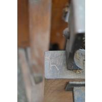 thumb-Antieke Bascule landelijke weegschaal van eikenhout-6