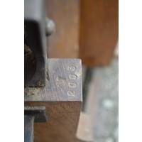 thumb-Antieke Bascule landelijke weegschaal van eikenhout-7