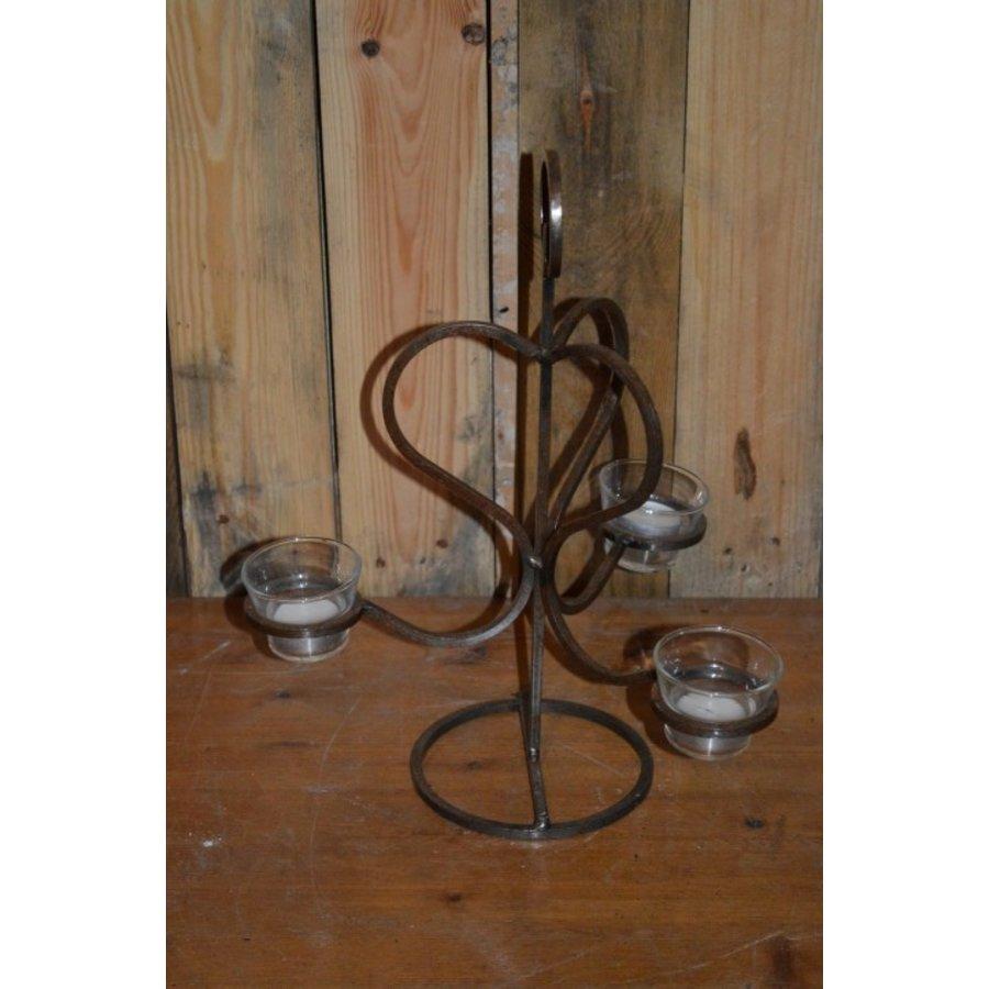 Metalen kandelaar voor theelichtjes-2