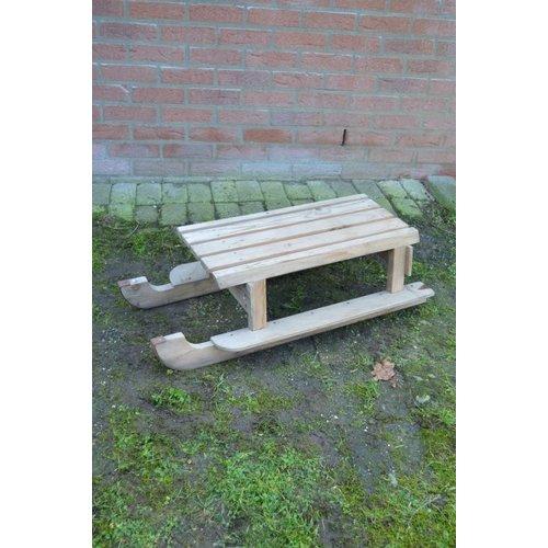 Zelfbouw houten slee tweedehands
