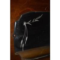 thumb-Garderobe met borstels en sierlijke spiegel-2
