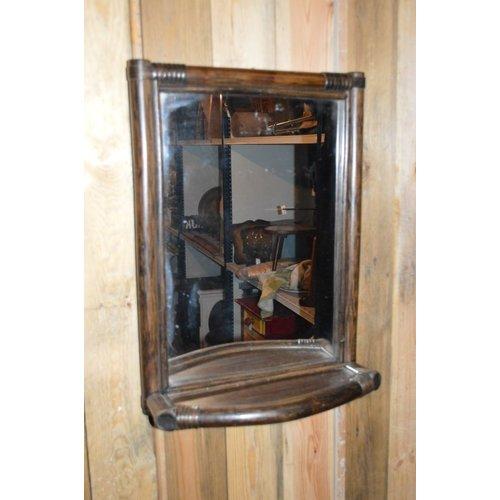Retro Rotan bamboe spiegel