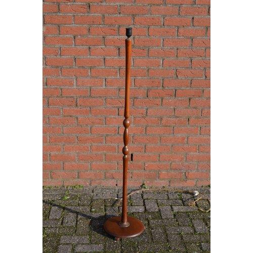 Retro houten staande lampenpoot