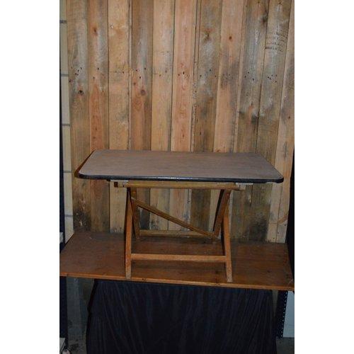 Brocante houten campingtafel