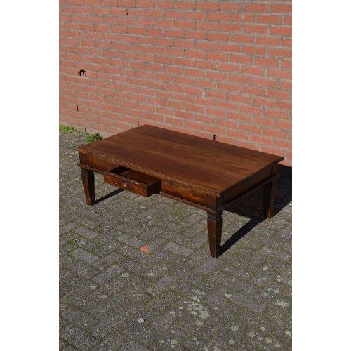 Rechthoekige salontafel van teakhout