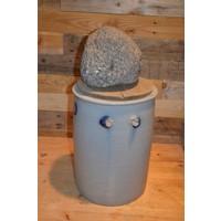 thumb-Zuurkool pot met steen en houten plank voor decoratie-2