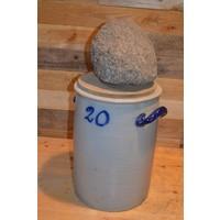 thumb-Zuurkool pot met steen en houten plank voor decoratie-3