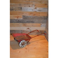 thumb-Vintage oude metalen kinderspeelgoed kruiwagen-1