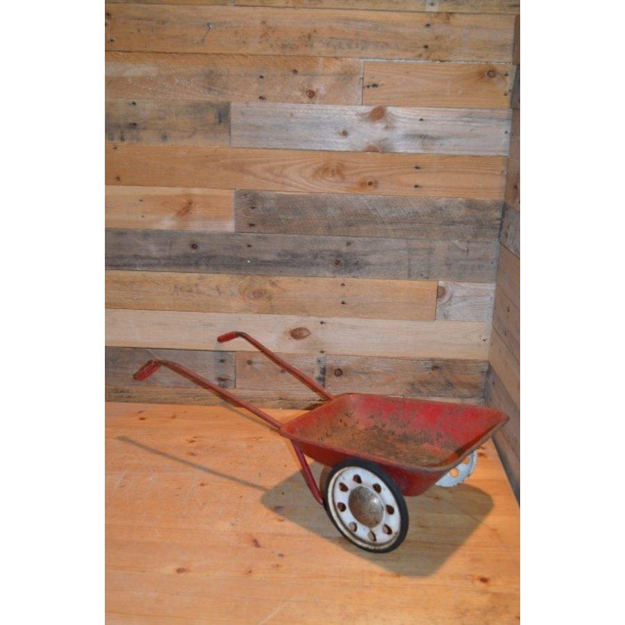 Vintage oude metalen kinderspeelgoed kruiwagen-2