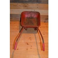 thumb-Vintage oude metalen kinderspeelgoed kruiwagen-3