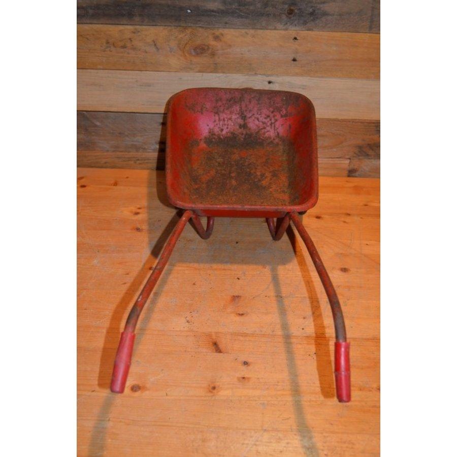 Vintage oude metalen kinderspeelgoed kruiwagen-3