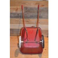 thumb-Vintage oude metalen kinderspeelgoed kruiwagen-4