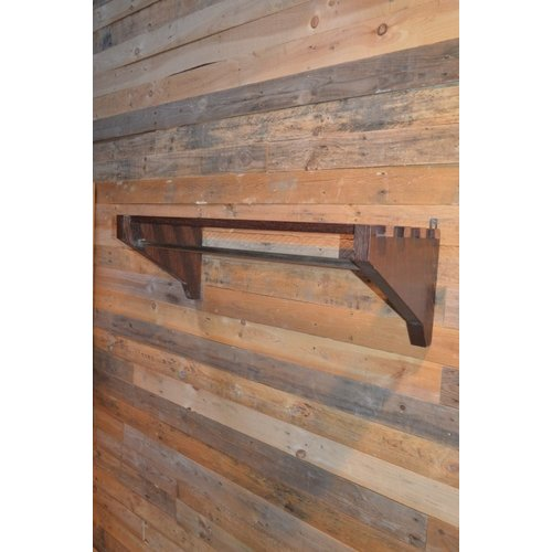 Kapstok van wengé hout