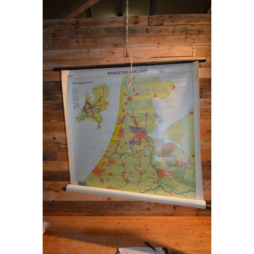 Randstad Holland topografie schoolkaart