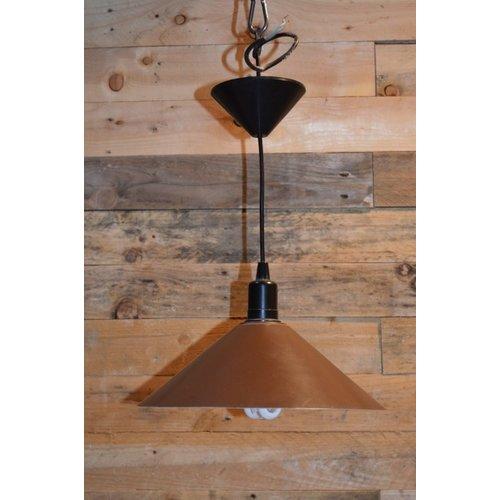 Retro metalen hanglamp bruin van kleur