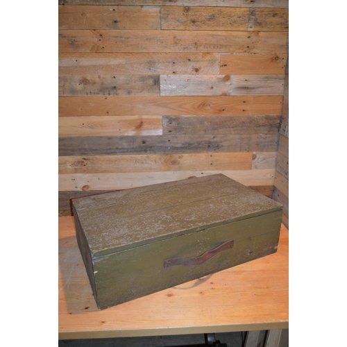 Brocante leger groene kist