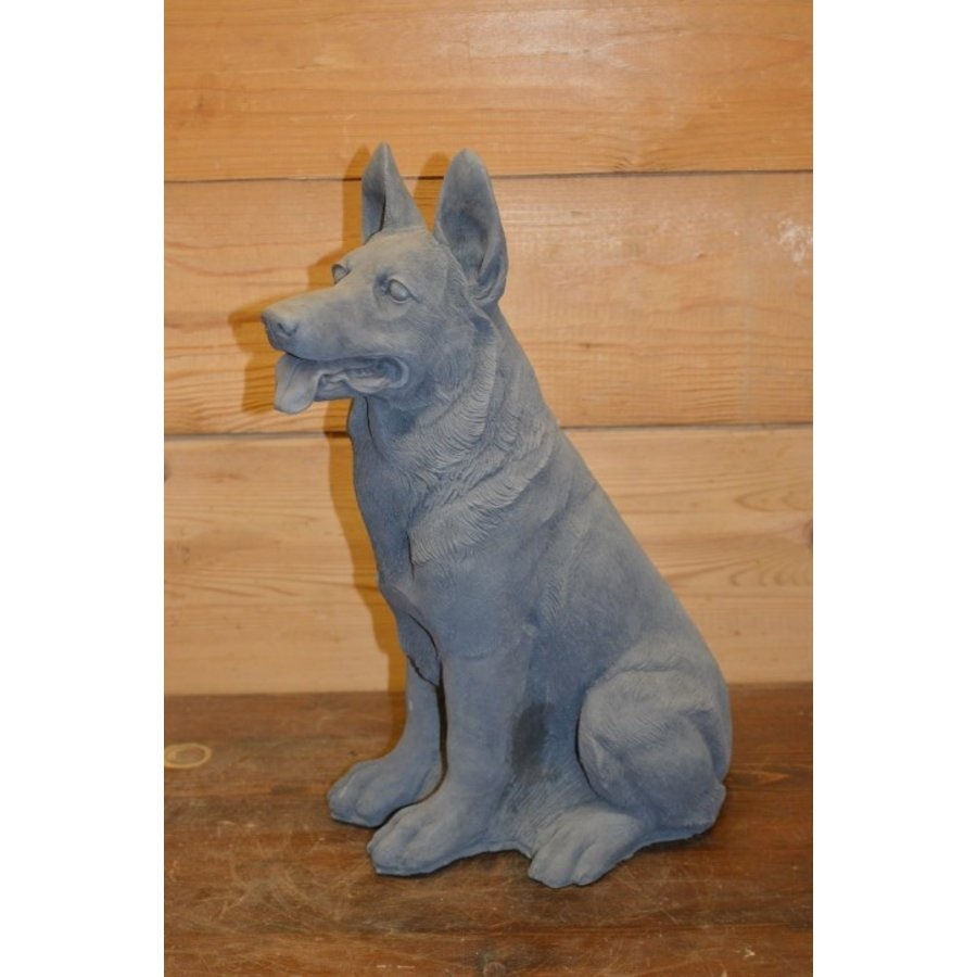 Zittende herder hond-1