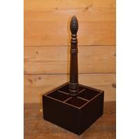 thumb-Sierlijke flessenhouder van mahoniehout voor op tafel-1