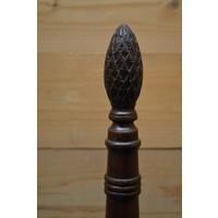 thumb-Sierlijke flessenhouder van mahoniehout voor op tafel-2