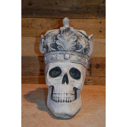Koninklijke schedel met kroon