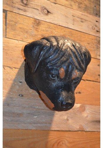 Rottweiler honden kop wanddecoratie