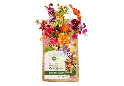 Superwaste Let it grow - hangtuintje Vlinderbloemen