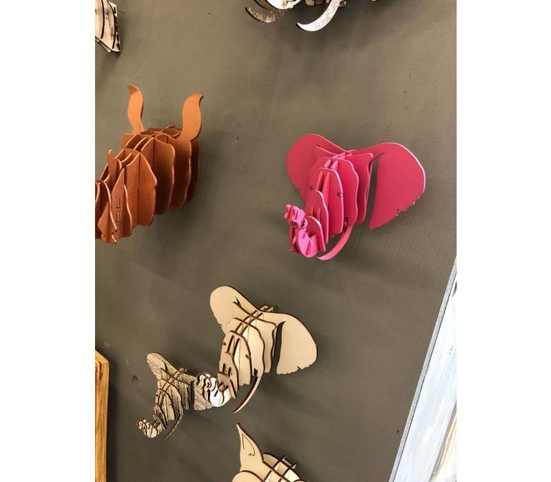 Wall art - Olifant roze