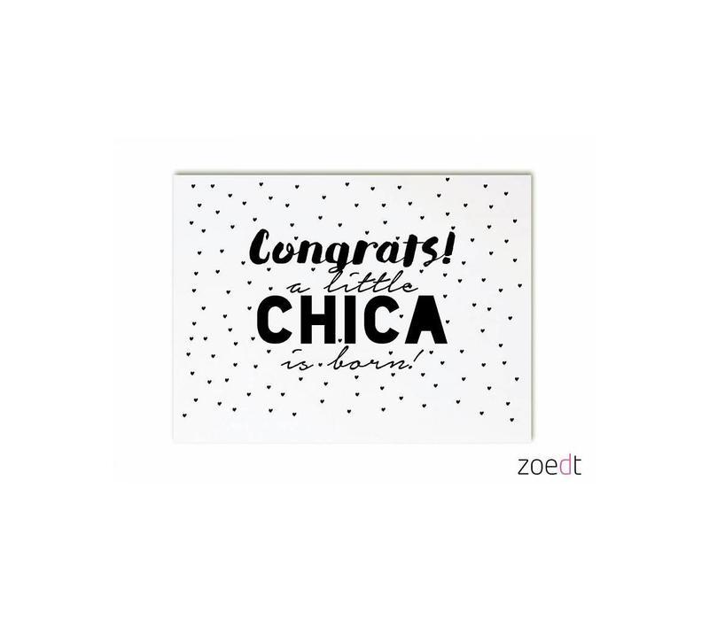 Kaart Congrats, a little chica is born