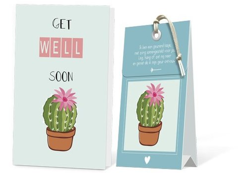 Kaart met geurzakje - Get well soon