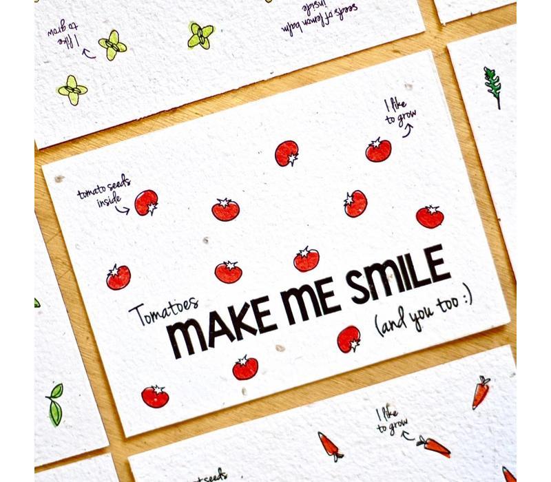 Bloeikaart - Make me smile