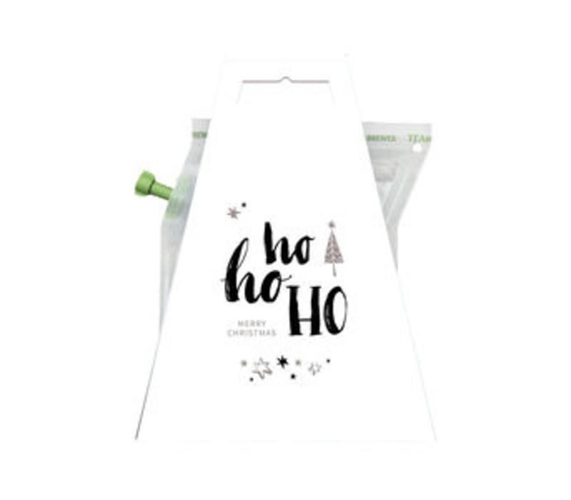 Kerstkaart met thee - Ho ho ho