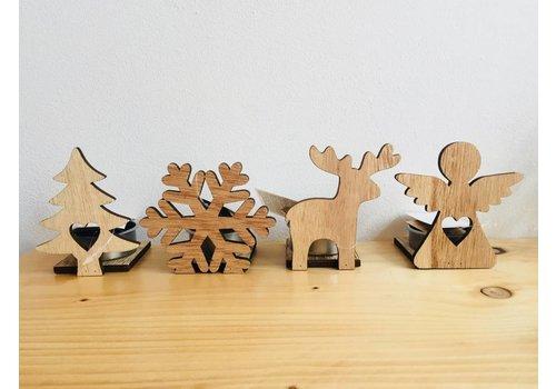 Van de Kaart Waxine lichtjes kerst