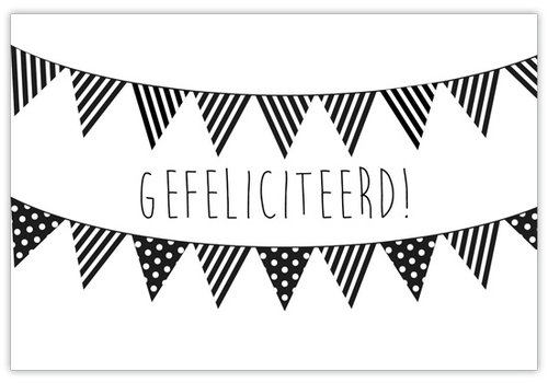 Naturalflowercards Kaart Gefeliciteerd