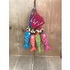 Sjaal met verhaal tassenhanger vis