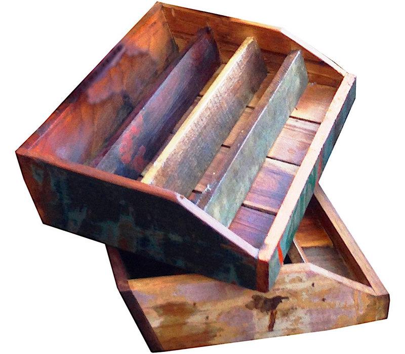 Postvakje of folderbakje scrapwood