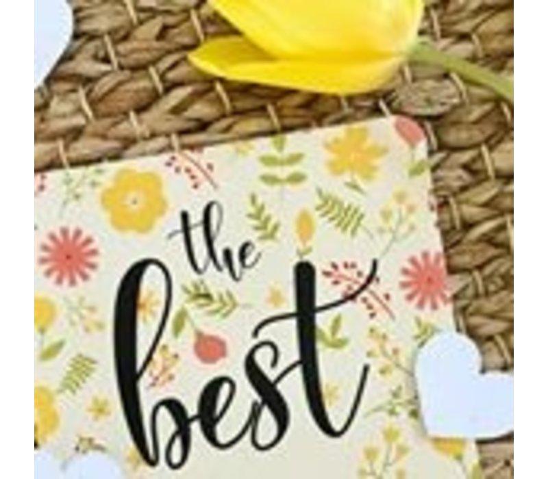 Bloeiconfetti kaart - the best of
